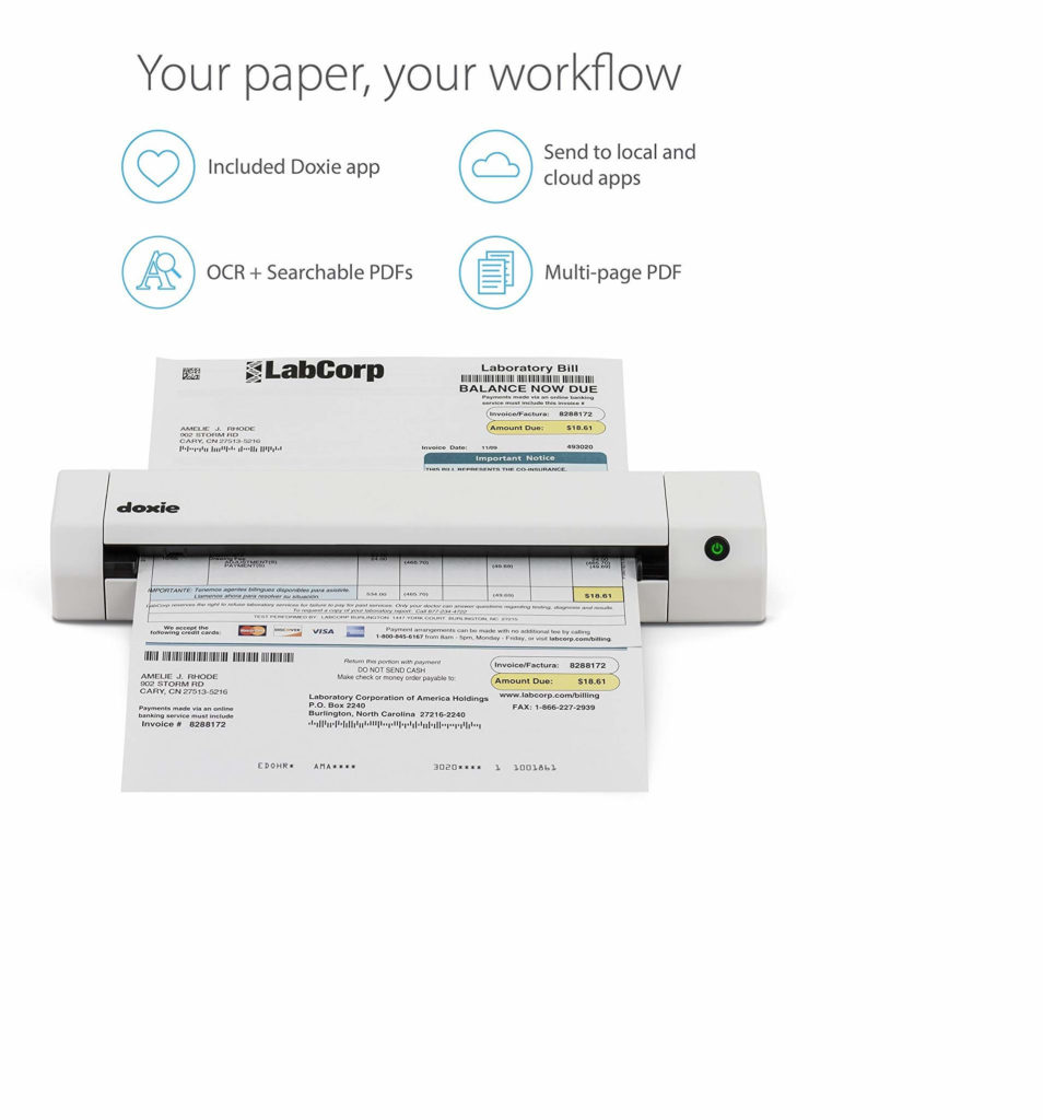 Doxie Go SE Portable – Best Receipt Scanner 2021