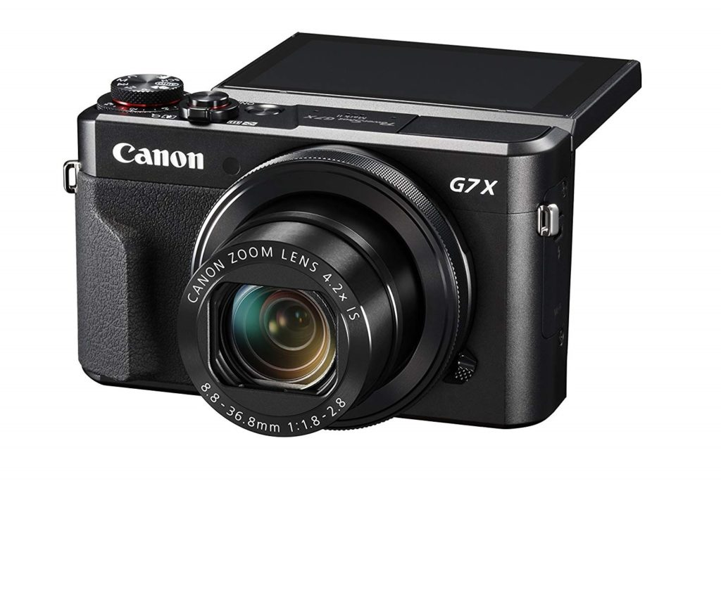 #3. Canon PowerShot G7 X Mark II – Best Youtube Vlog Camera with Wifi
