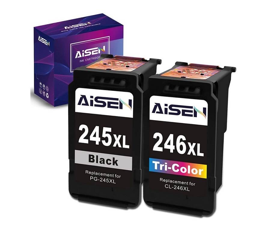 AISEN Best Remanufactured Ink Cartridges 245 and 246 Replacement for Canon Printer