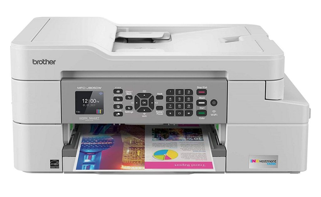 Brother MFC J805DW INKvestmentTank – Best printer with the longest ink cartridge